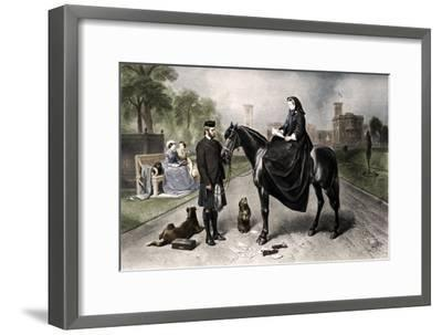 'Queen Victoria at Osborne House', 1865 (1906)-Unknown-Framed Giclee Print