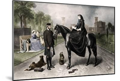 'Queen Victoria at Osborne House', 1865 (1906)-Unknown-Mounted Giclee Print