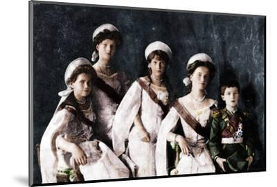 Children of Tsar Nicholas II of Russia, c1910-Unknown-Mounted Photographic Print