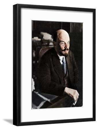 'Vladimir Ilich Lenin, Russian Bolshevik leader, 28th November', 1921-Unknown-Framed Giclee Print