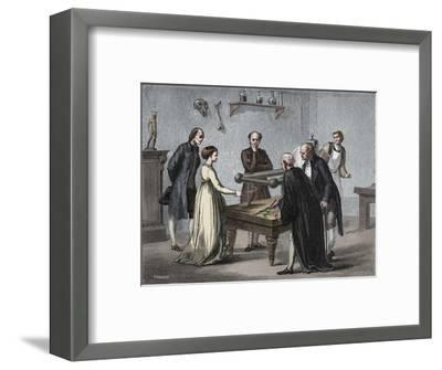 Galvani's discovery, 1780 (1894)-Unknown-Framed Giclee Print