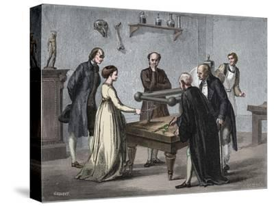 Galvani's discovery, 1780 (1894)-Unknown-Stretched Canvas Print