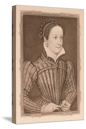 'Portrait - Mary, Queen of Scots', c16th century, (1904)-Unknown-Stretched Canvas Print