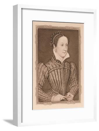'Portrait - Mary, Queen of Scots', c16th century, (1904)-Unknown-Framed Giclee Print