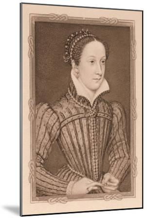 'Portrait - Mary, Queen of Scots', c16th century, (1904)-Unknown-Mounted Giclee Print