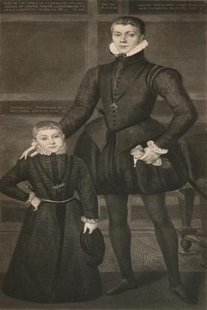'Henry Lord Darnley, and his Brother Charles', c16th century, (1904)-Unknown-Framed Giclee Print