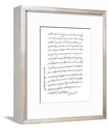 'Facsimile of a Letter, Dated 10th August, 1623, (1904)-Unknown-Framed Giclee Print