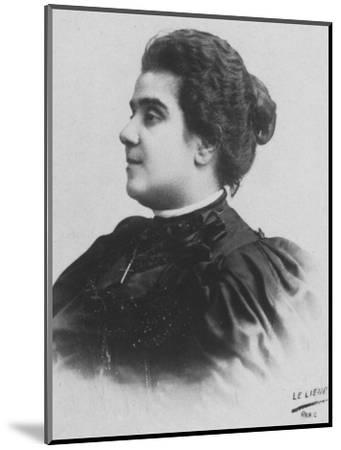 'Mathilde Serao', c1893-Unknown-Mounted Photographic Print
