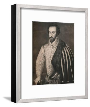 'Sir Walter Raleigh', 1588, (1904)-Unknown-Framed Giclee Print