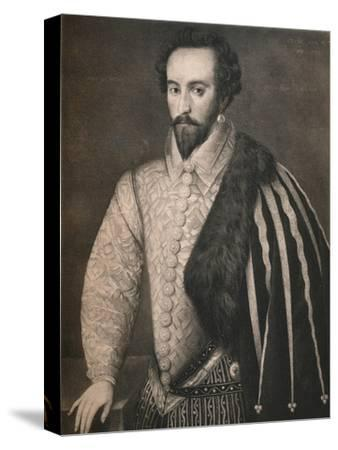 'Sir Walter Raleigh', 1588, (1904)-Unknown-Stretched Canvas Print