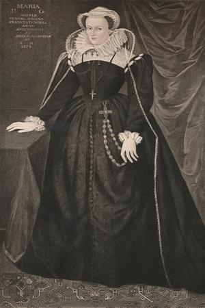 'Mary, Queen of Scots', c16th century, (1904)-Unknown-Framed Giclee Print