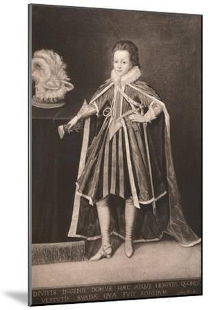 'Henry, Prince of Wales', c16th century, (1904)-Unknown-Mounted Giclee Print