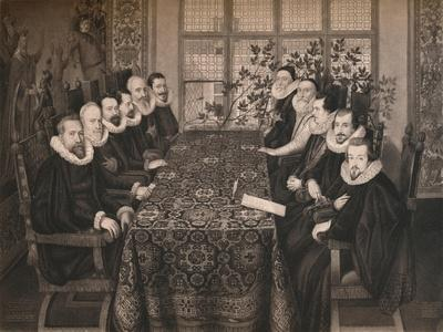 'The Somerset House Conference, 1604', 1604, (1904)-Unknown-Framed Giclee Print