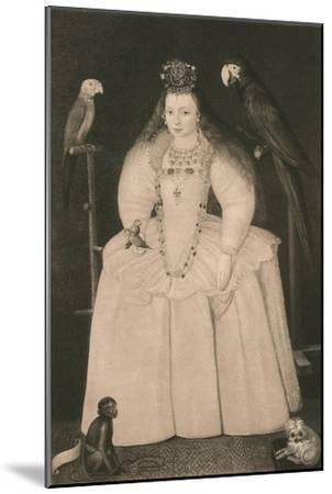 'Arabella Stewart', c16th century, (1904)-Marcus Gheeraerts, the Younger-Mounted Giclee Print