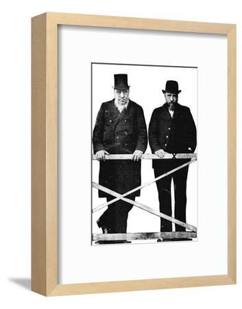 'Brother Boers at the Bar', 1900-Unknown-Framed Photographic Print
