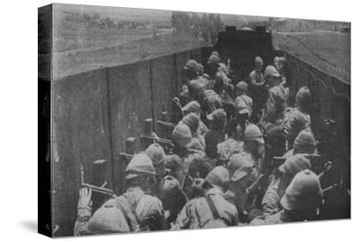 'Firing from an Armoured Train', 1902-Unknown-Stretched Canvas Print