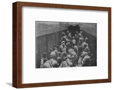 'Firing from an Armoured Train', 1902-Unknown-Framed Photographic Print