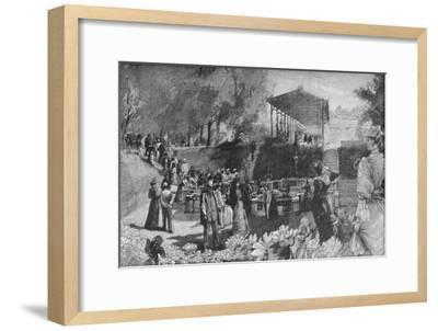'Drinking the Waters at Homburg', 1900-Unknown-Framed Giclee Print