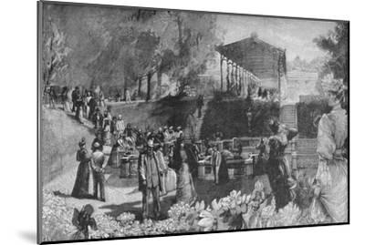 'Drinking the Waters at Homburg', 1900-Unknown-Mounted Giclee Print