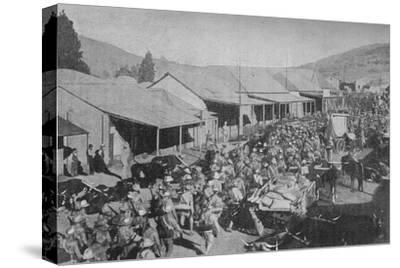 'The British Army Marching Through the Streets of Pretoria', 1902-Unknown-Stretched Canvas Print
