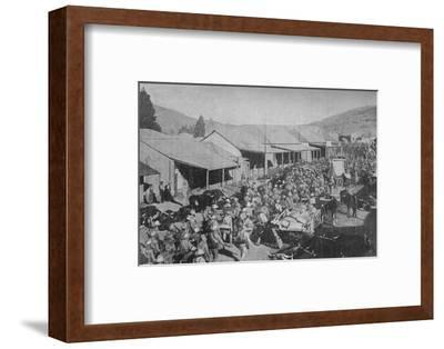 'The British Army Marching Through the Streets of Pretoria', 1902-Unknown-Framed Photographic Print