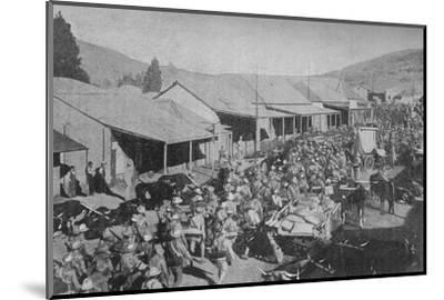 'The British Army Marching Through the Streets of Pretoria', 1902-Unknown-Mounted Photographic Print