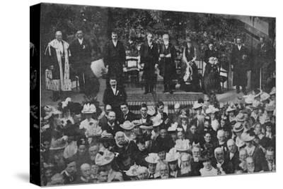 'Lord Strathcona Opening the Free Church Bazaar in his Native Town of Forres', 1900-Unknown-Stretched Canvas Print
