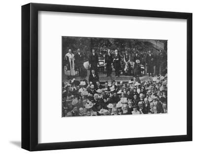 'Lord Strathcona Opening the Free Church Bazaar in his Native Town of Forres', 1900-Unknown-Framed Photographic Print