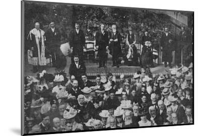 'Lord Strathcona Opening the Free Church Bazaar in his Native Town of Forres', 1900-Unknown-Mounted Photographic Print