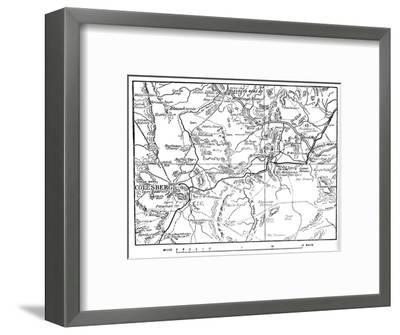'Map to Illustrate the Operations Round Colesberg', 1902-Unknown-Framed Giclee Print
