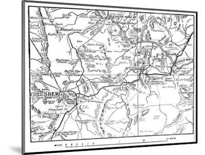 'Map to Illustrate the Operations Round Colesberg', 1902-Unknown-Mounted Giclee Print