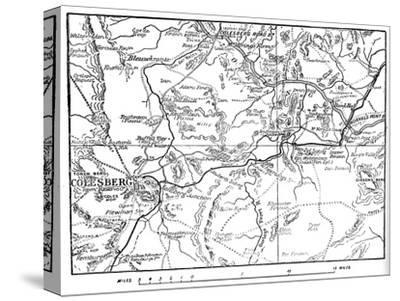 'Map to Illustrate the Operations Round Colesberg', 1902-Unknown-Stretched Canvas Print