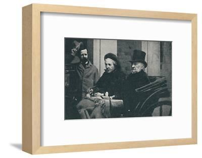 ' Mr. and Mrs. Gladstone driving through Glasgow at the General Election of 1892, 1900-Unknown-Framed Photographic Print