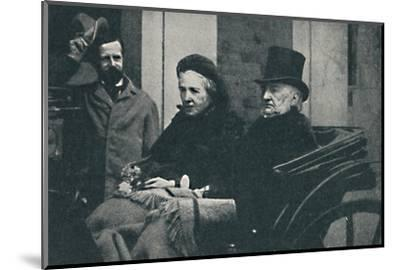 ' Mr. and Mrs. Gladstone driving through Glasgow at the General Election of 1892, 1900-Unknown-Mounted Photographic Print