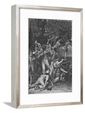 The Chilian Cutlasses Swept The Deck, 1902-Unknown-Framed Giclee Print