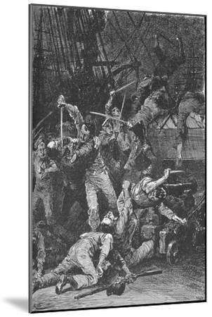The Chilian Cutlasses Swept The Deck, 1902-Unknown-Mounted Giclee Print