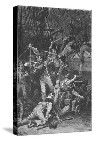 The Chilian Cutlasses Swept The Deck, 1902-Unknown-Stretched Canvas Print