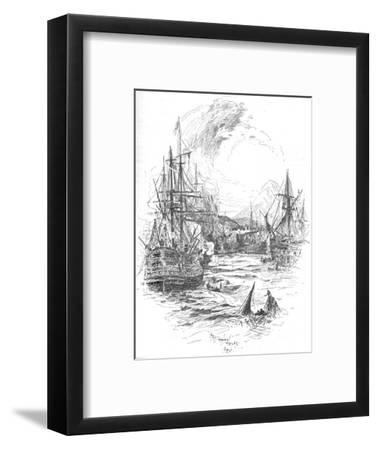 The Battle Was Maintained With Unabated Fury For Above Four Hours, c1895, (1902)-Unknown-Framed Giclee Print