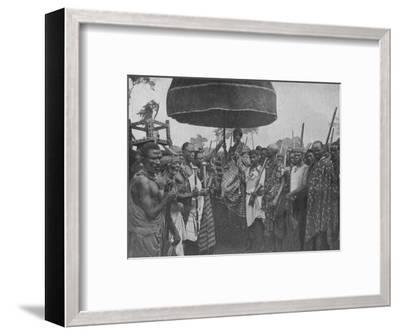 'The Subdued King of Akim Carried on his Chair of State', 1902-Unknown-Framed Photographic Print