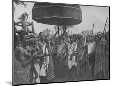 'The Subdued King of Akim Carried on his Chair of State', 1902-Unknown-Mounted Photographic Print