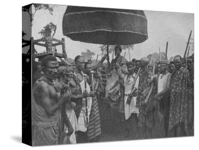 'The Subdued King of Akim Carried on his Chair of State', 1902-Unknown-Stretched Canvas Print