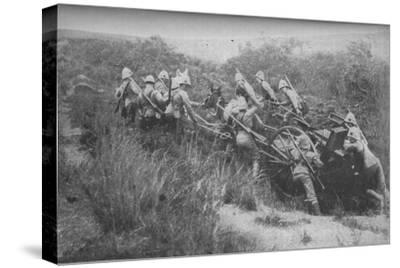 'Rifle Brigade Practising Hill Climbing with Maxim', 1902-Unknown-Stretched Canvas Print