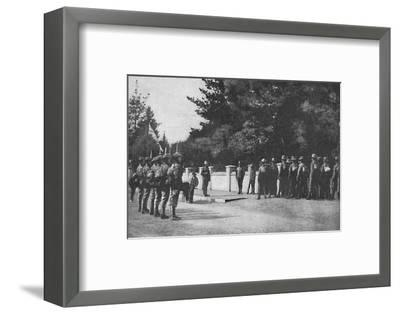 Grenadier Guards (with their new hats) relieving guard at Lord Roberts's headquarters, Pretoria-Unknown-Framed Photographic Print