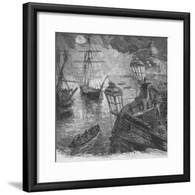 Sir Richard Strachan Kept Up For Several Hours A Tremendous Cannonade, 1902-Unknown-Framed Giclee Print