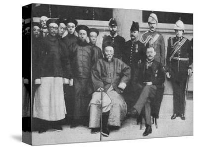 'In Far Cathay - An interesting group at Hong Kong, taken before Li Hung went to Pekin', 1900-Unknown-Stretched Canvas Print