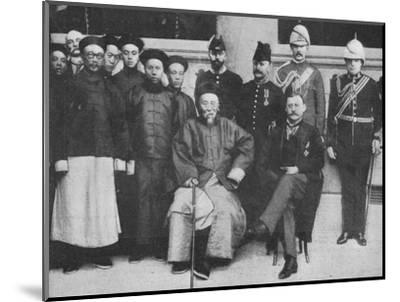 'In Far Cathay - An interesting group at Hong Kong, taken before Li Hung went to Pekin', 1900-Unknown-Mounted Photographic Print