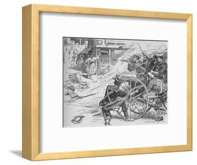 'Clearing the Streets of Alexandria', c1896, (1902)-Unknown-Framed Giclee Print