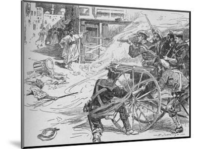'Clearing the Streets of Alexandria', c1896, (1902)-Unknown-Mounted Giclee Print