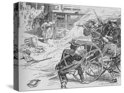 'Clearing the Streets of Alexandria', c1896, (1902)-Unknown-Stretched Canvas Print
