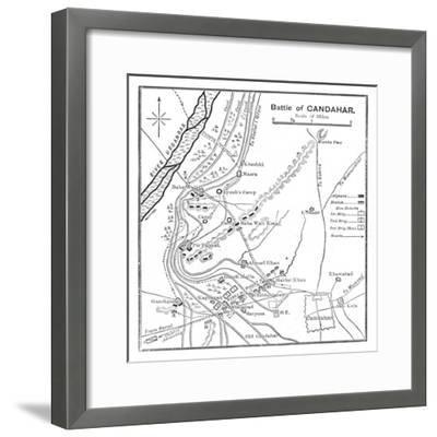 'Battle of Candahar: Plan', 1902-Unknown-Framed Giclee Print